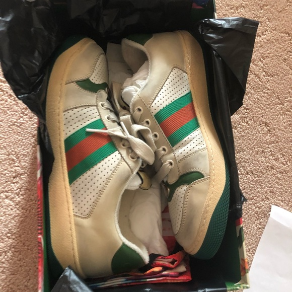 3d3b97632d Women's Gucci screener leather sneaker NWT